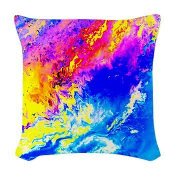 Beautiful weather Woven Throw Pillow