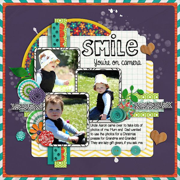 Today I am Happy - KayCee Layouts & Designs