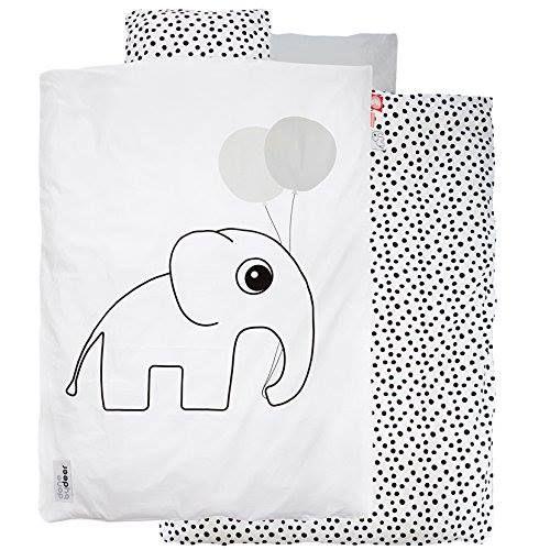 Kinder-Bettwäsche mit Elefanten-Print von Done by Deer Preis: 49,95 inkl. Versand, gefunden auf Amazon Gibt es hier: http://amzn.to/2gYe5f1 #fuerKinder #Kinderzimmer #Bettwaesche #Elefant