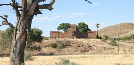 """#Duwisib Castle, #Namibia  Driving along the edge of the #NamibDesert the last thing you expect to see is a castle. Built in the early 1900's by a German """"Baron"""", Duwisib castle is near Duwisib Guest Farm. A beautiful campsite shaded by camel thorn trees, BBQ areas and a central ablution block. Great #safari #overlandholiday stop"""