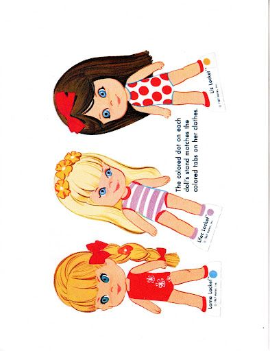 Paper Dolls Lucky Locket Kiddles Bonnie Jones Picasa