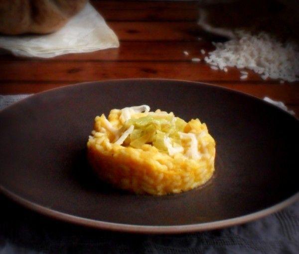 Risotto alla crema di zucca e porri con Asiago - Cucina Semplicemente