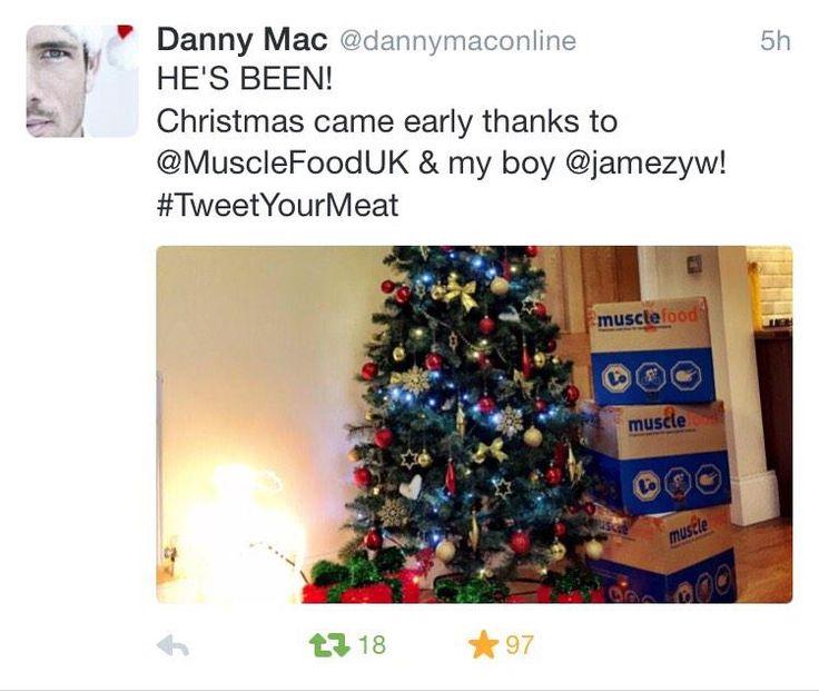 Danny Mac loving Musclefood.com's Christmas hamper and protein treats!