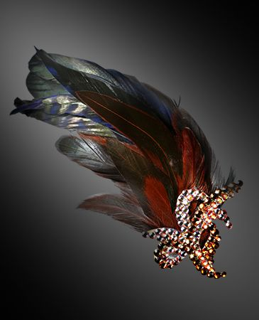 Zdenka Arko Topaz Rhinestone Hair Piece HA11005-32 - Rhinestone Jewelry | Dancesport Fashion @ DanceShopper.com