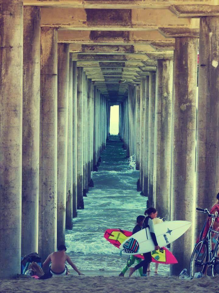#Huntington #beach the pier #surf