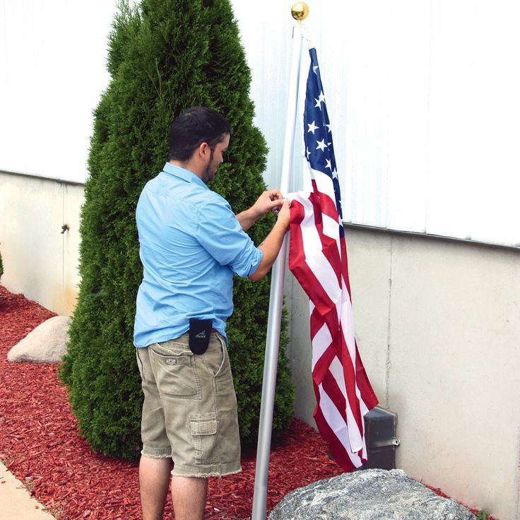 16-Ft. Telescoping Flagpole with U.S. Flag | www.kotulas.com | Free Shipping