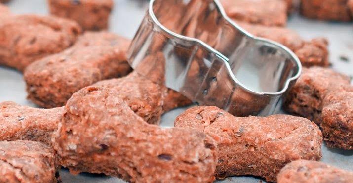 Biscoito de cenoura para cães