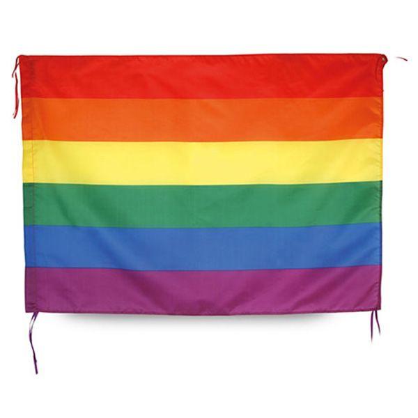 Bandera gay con diseño de Arco Iris perfecto para su uso en Manifestaciones LGTB, Orgullos Gays o para regalárselo a un amigo. Ideal para llenar de color tu casa.