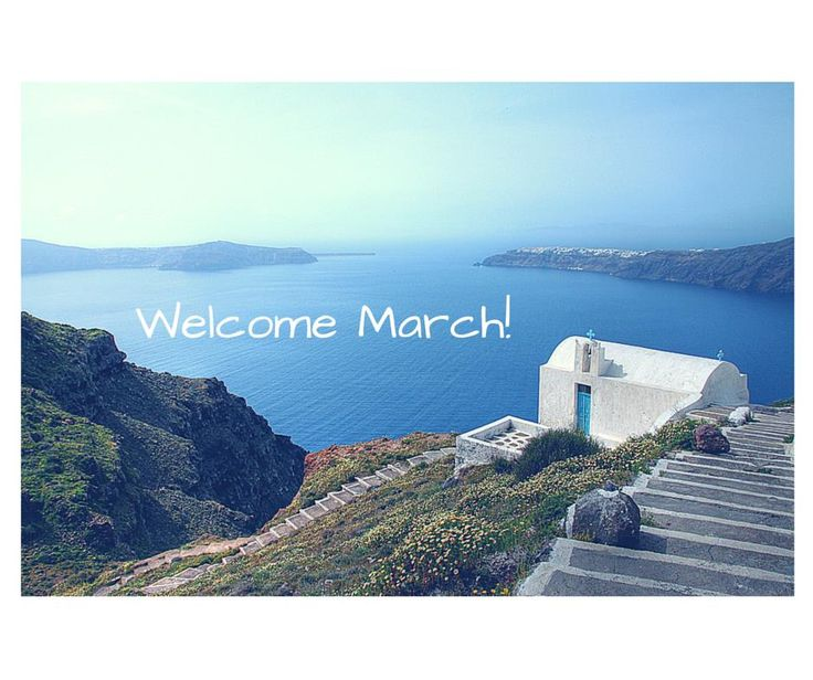 Welcome #March! #Spring #Smile #Santorini