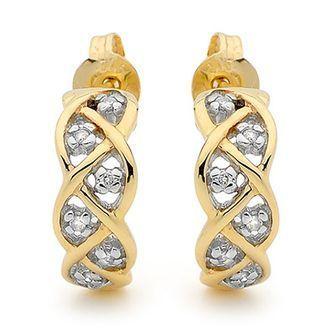 Gold and Diamond Earring  Dream Weaver  - BEE-53594