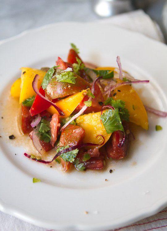 End of Summer Tomato Salsa Salad
