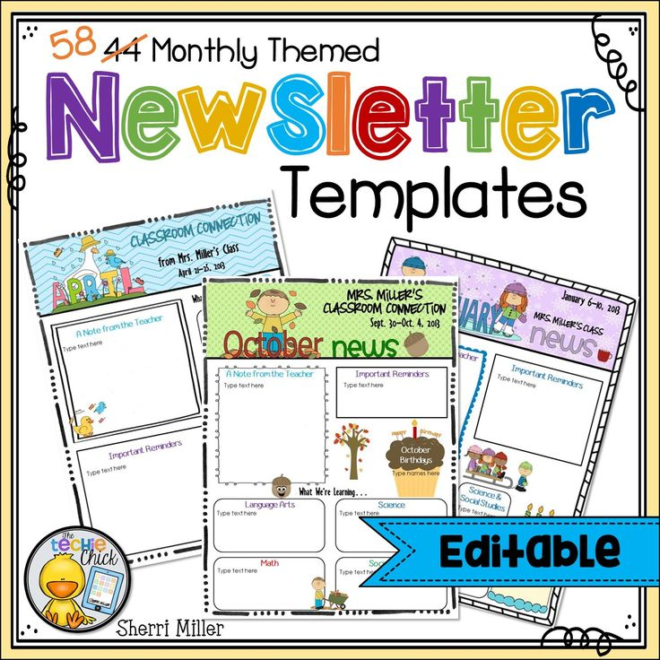 1000 ideas about preschool newsletter on pinterest for for Quick will template