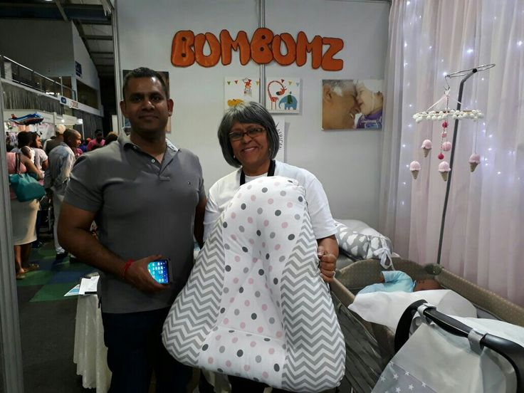 Karusha naidoo.  Baby 2 months premmie and colic.   He bought my first baby lounger and 5 arm pillows.