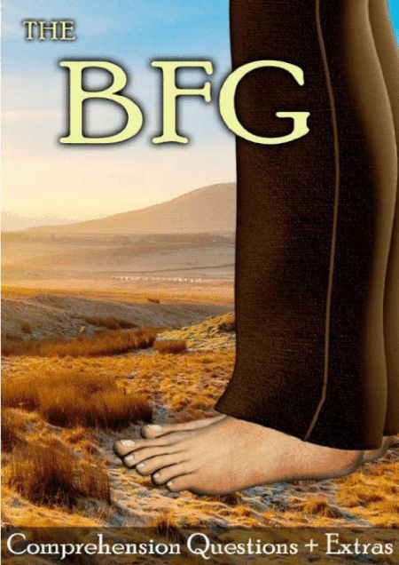 """This 14 page movie guide with handouts accompanies the film """"The BFG (2016)"""" #movieguide #comprehension #bfg #RoaldDahl"""