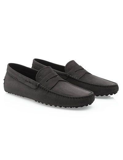 Tods Gommino Rijden Schoenen in Nubuck Black