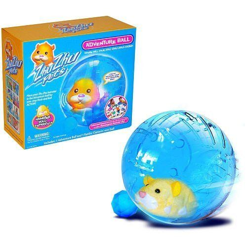 Zhu Zhu Pets Adventure Ball by Cepia. $29.49. From the Manufacturer                I can go anywhere I want in my Adventure Ball!  Place your Zhu Zhu hamster in the Adventure ball for non-stop Rock and Roll ACTION!  Each Zhu Zhu Hamster has its own unique personality & whimsical sounds!  Loving Mode:  Pet them, love them, hear them chatter.  Explore Mode:  Let them scoot, scamper, bump n' boogie across the floor or through their hamster habitat.  Collect and Co...