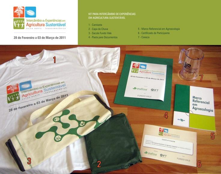 Este é o kit completo para um conjunto de oficinas ministradas por Imaflora e IFT (Instituto Floresta Tropical) na região norte do estado do Pará.    Foi criada um identidade visual exclusiva para estas atividades de campo, estampada na camiseta, pastas e certificados.