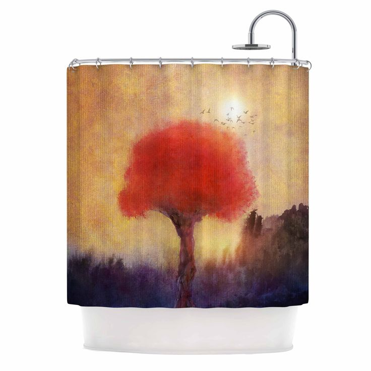 "Viviana Gonzalez "" Red Tree"" Yellow Purple Shower Curtain from KESS InHouse"