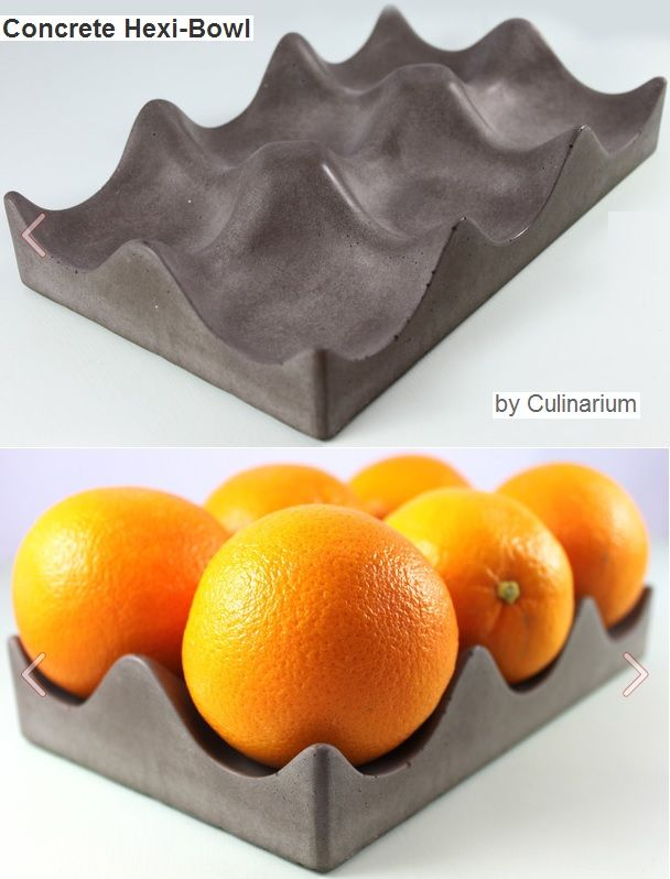concrete hexi-bowl would be great to make this from an egg carton #decorativo