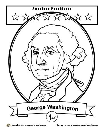 Coloring Pages Coloring And Lincoln On Pinterest George Washington Coloring Page