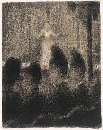 At the Concert Européen (Au Concert Européen) Georges-Pierre Seurat (French, 1859-1891)  c. 1886-88  #charoal #chalk #Georges #Seurat