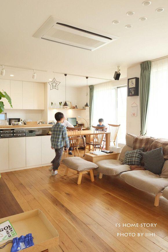 キッチン横並びダイニングのあるldk 暮らしphoto 大宮の家 いいひブログ いいひ住まいの設計舎 いえ Pinterest Dining Kitchens And House