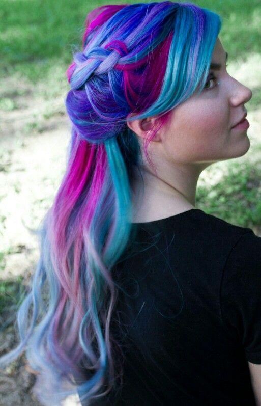 Pink blue purple