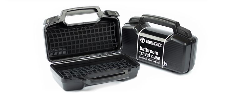 Introducing Tooletries - the toughest toiletry bag of its kind. Hard shell exterior construction, rubberized handle grip with duel clips, a waterproof neoprene inner lining and removable silicone netting to keep everything neat and tidy. Built Tough. Made for Travel. Check us out at http://tooletries.com/
