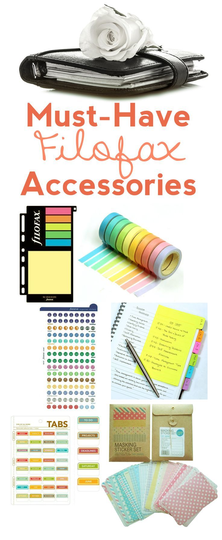 Find your must-have Filofax goodies here! Make your planner personalized, fun, and organized. All goodies are very affordable, some are even cheap!