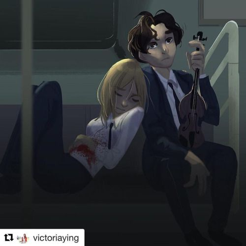 Reposting this AMAZING fanart from TSS. Kate and August locked in the subway car.