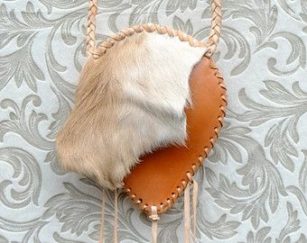 Hunter Gatherer Fur Pouch - Etsy #fur #leather #pouch #gypsy