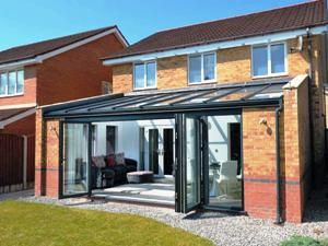 grey contemporary conservatory