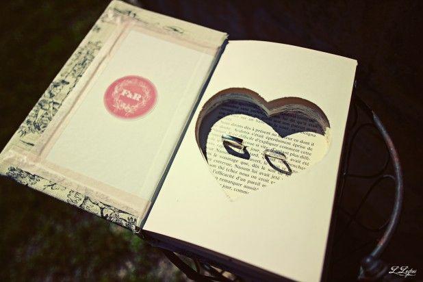 Les moineaux de la mariée: DIY : Votre porte-alliance dans un livre