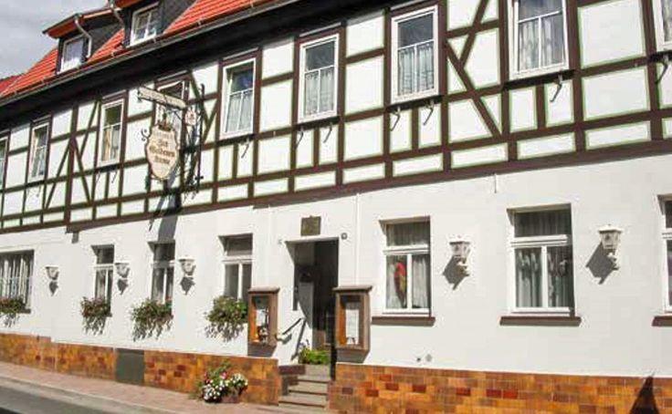 """Der Gasthof """"Zur Goldenen Krone"""" in Ilfeld, in dem Goethe übernachtet haben soll, liegt heute an der Durchgangsstraße in Richtung Hasselfelde und ist leider nicht mehr in Betrieb."""