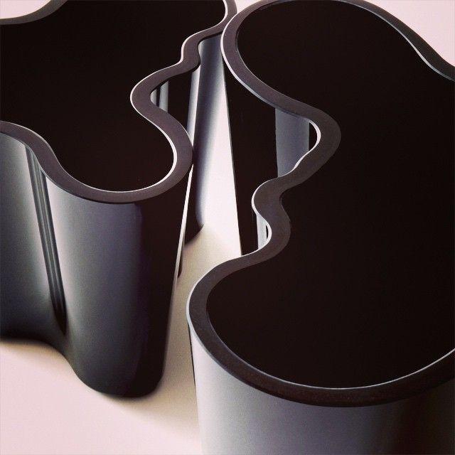 Iittala, Alvar Aalto vases in black at my place.