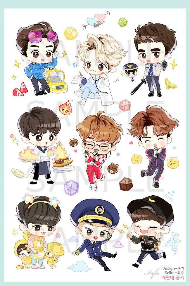 exo fanart stickers - Twitter Search