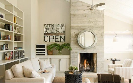 Asymmetrical Fireplace Wall Living Room Ideas Pinterest Popular Shelves And Concrete