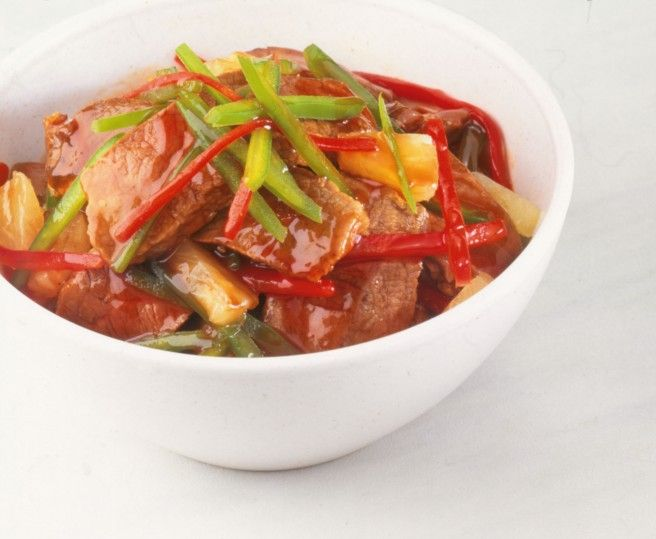 Sweet and sour beef Recipe - Dish | Asian Inspirations