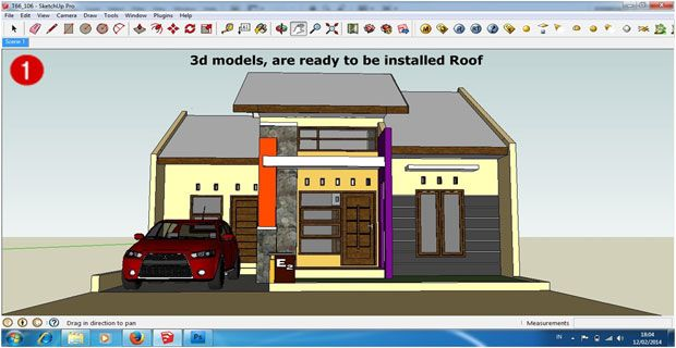 Make Realistic Roof In Sketchup Roof Installation Roof Installation