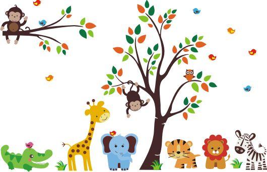Vinilo decorativo infantil Animalitos de la selva. Tamaño Sugerido: 200 cms de alto x 250 cms de ancho El vinilo decorativo infantil es un diseño fabricado en piezas por separado. Entre los vinilos más solicitados tenemos este fantástico diseño, con animales de la selva el cual puede ser usado en decoración infantil para niños y niñas. Síguenos en:Facebook Tenemos vinilos …