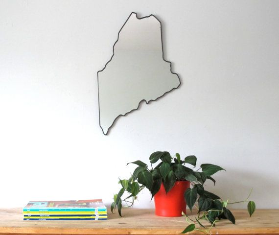 Maine Mirror / Wall Mirror State Outline Silhouette ME