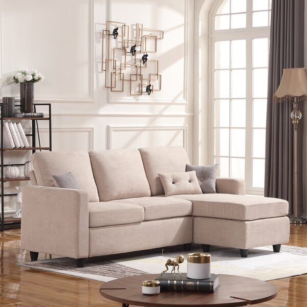 Sylvette 78 5 Reversible Sofa Chaise With Ottoman In 2020 Sofas For Small Spaces Couches For Small Spaces Sectional Sofa Couch
