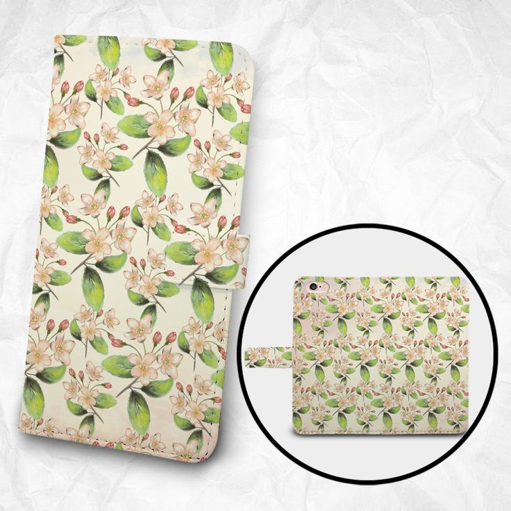 iPhone 6 6S Plus case, Samsung Galaxy S6 case, Edge case Note 5 4 3 2 PU leather flip cover Book Phone case Wallet case - K8 Flowers by BeeBeeStyle on Etsy
