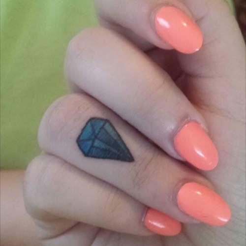 elmas dövmeleri parmak finger diamond tattoos