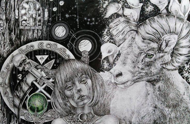 #paulamayo #paulamayoart #art #artecolombiano #colombiartist #girl  #gothicart https://www.instagram.com/paulamayoart/ #lilith #lilithart #darkart