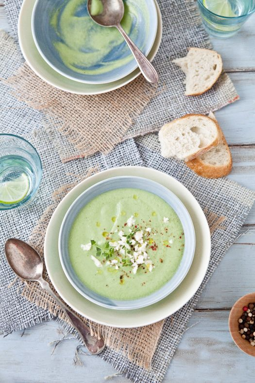 Chilled Cucumber Avocado Soup [by Tartelette]