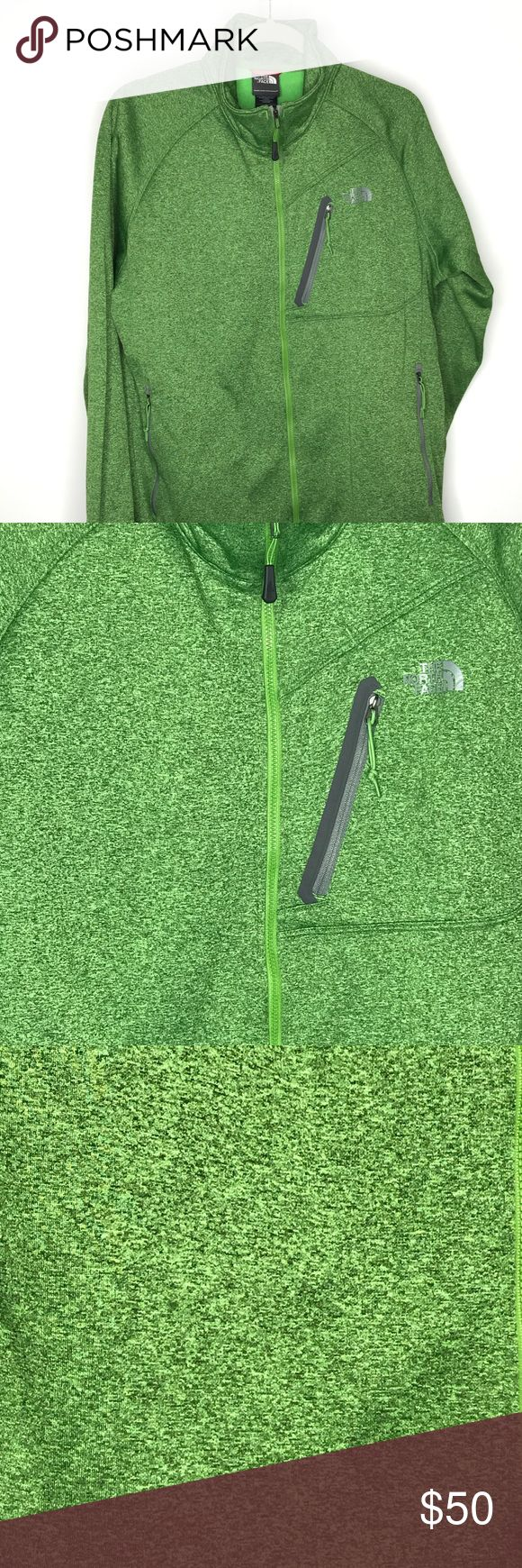 North Face Men's jacket with fleece inside North Face Men's full zip jacket with fleece inside - size Large. Worn once. Zipper pockets and small front pocket with zipper. North Face Jackets & Coats
