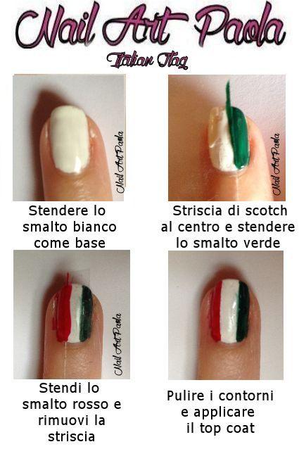 Bandiera Italiana, nailart, nails, polish, mani, manicure, nailartpaola, unghie, smalti, bellezza, makeup, beauty, tutorial.