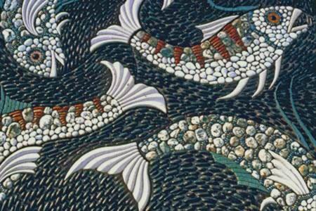 гобелены, мозаика и живопись: Мозаика из морских камней, плитняка и флорентийская мозаика