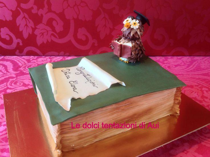 Gufo per una torta di Laurea